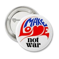 Make Love Not War Pinback Button from Zazzle.com