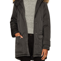Utility Parka with Fur Trim Hood by Maje at Gilt