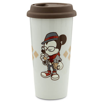 disney parks mickey mouse hipster porcelain 16oz tumbler new