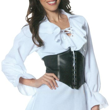 Costume Accessory: Pirate Laced Front Blouse | Medium