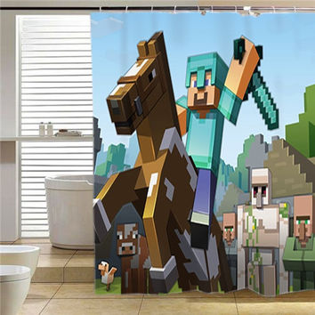 Minecraft Mine Craft Game  shower curtain