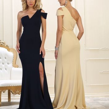 Prom Long Formal Dress Evening Gown One Shoulder