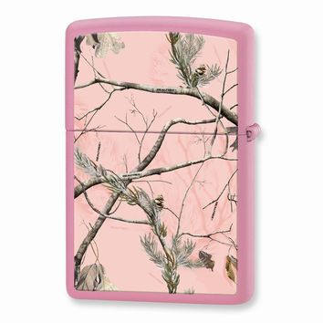 Zippo Realtree APG Pink Camouflage Pink Matte Lighter - Engravable Gift Item