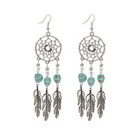 LOVEsick Dreamcatcher Skull Earrings | Hot Topic