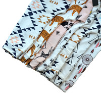 KIKIKIDS Baby Boys&Girls Teepee& Tiger& Geometric& Panda &Fox Harem Pants, Toddlers Girls& Boys Harem Pants with 12 colors