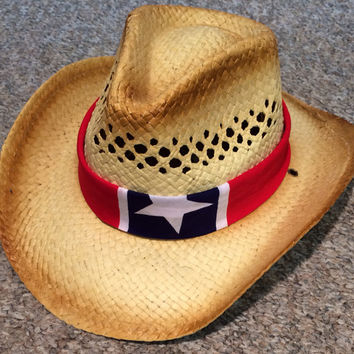 Rebel Flag Bandana Cowboy Hat from SarahsCountryCrowns on Etsy 95ef5fba140