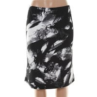 Grace Elements Womens Matte Jersey Printed Pencil Skirt