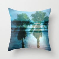 Tropical Dreams Throw Pillow by Shawn King