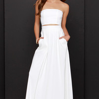 Placid Trip Ivory Two-Piece Dress