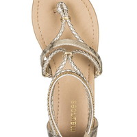 Demi Gladiator Sandal - Light Gold