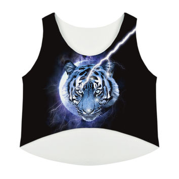 Women's Summer All Over Print Crop Top