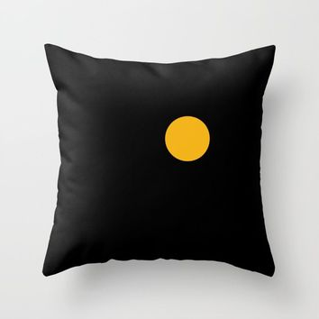 yellow point Throw Pillow by netzauge