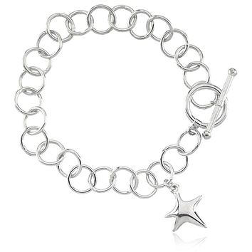 Starfish Toggle Bracelet in Silver