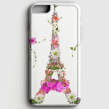 Girly Floral French Eiffel Tower Bright Flowers iPhone 6 Plus/6S Plus Case