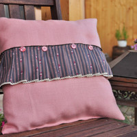 Rose dream pillow with insert - happy ruffles
