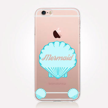 Transparent Mermaid iPhone Case - Transparent Case - Clear Case - Transparent iPhone 6 - Gel Case - Soft TPU Case - Samsung S7