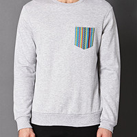 Tribal Print Pocket Sweatshirt