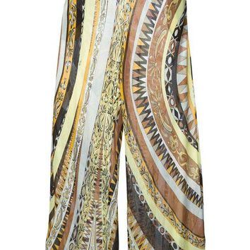 ONETOW Emilio Pucci crepe patterned trousers