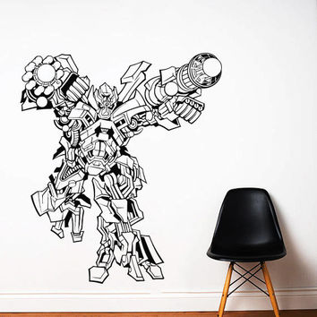 Transformers Wall Decal,Prime Wall Sticker,Bumblebee wall decal,Kids Wall sticker,Bedroom Wall Sticker,Nursery wall decal kau 274