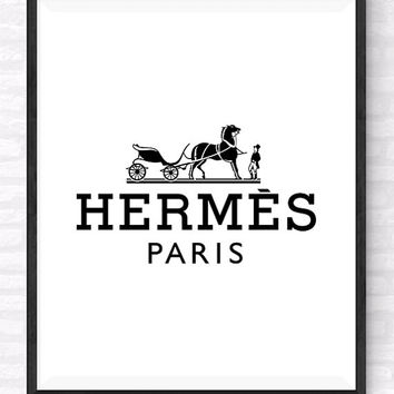 Hermes Paris Printable, Hermes Paris Logo Art, Beauty and Fashion Print, Makeup wall Art, Gift For Her, Girl's Room Poster, Hermes Poster