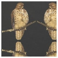 Red Tailed Hawk Fabric