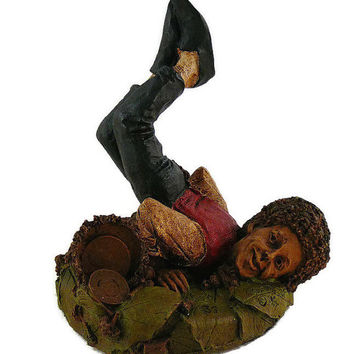"""Vintage, Tom Clark, Retired """"Good Foot"""", Handcrafted, Gnome Figurine, By Cairns Studio"""