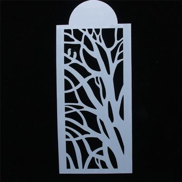 Hot Sale Vibrant branches Shaped Reusable Stencil Airbrush Painting Art DIY Home Decor Scrap booking Album Crafts