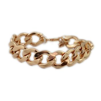 European and American Accessories Personality Simple Rose Gold Bracelet Metal Chain Bracelet Fashion Wild New Special offer Jewelry JM