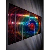 "Abstract by Ash Carl Metal Wall Art in Multi - 23.5"" x 60"""