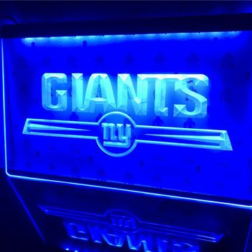 B051- NY New York Giants Bar Logo Led Light Sign