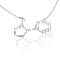Molecule Necklace ,Nicotene necklace, silver necklace, chemistry jewelry