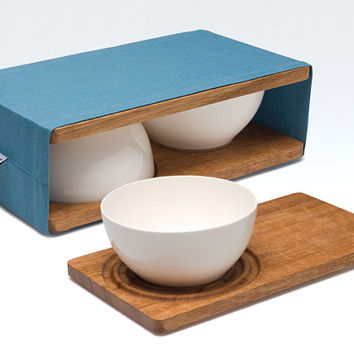 Entre Double Bowl & Platter Set by Simple Vision
