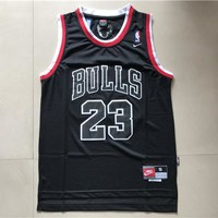NBA Chicago Bulls #23 Michael Jordan Black Swingman Jersey