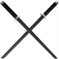 Full Tang Combat Ninja Sword with Back Straps - 2 piece