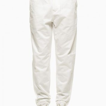 Trousers from the S/S2015 Stussy collection in white.