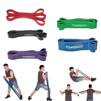 TOMSHOO 208cm Workout Loop Band Pull Up Assist Band Stretch Resistance Band Powerlifting Bodybulding Yoga Exercise Fitness Assi