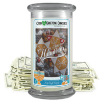 Happy Hanukkah | Holiday Cash Greeting Candle