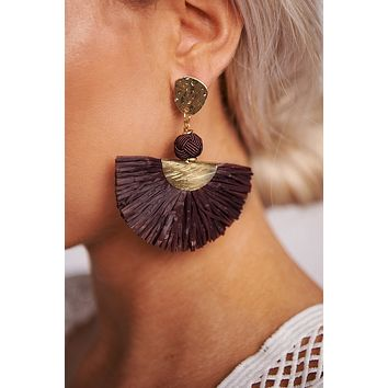 The Money Shot Dangle Earrings (Purple)