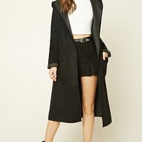 Hooded Shawl Collar Coat