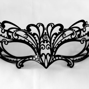 Blace lace laser cut metal masquerade mask, New year's masquerade masks fit for masquerade ball parties