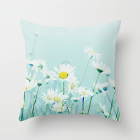 Dancing Daisies Throw Pillow by RDelean