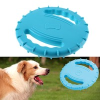 "19.5cm/7.67"" Diameter Eco-friendly Pet Product Natural Rubber Material Pet Dog Toy Frisbee Dog Training Toy Pet Toy Supplies"