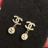 PEAPLM3 Gold CC Earrings