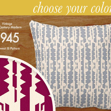 """Custom Mid-Century Modern Pattern Pillow - Midwest III - Throw Pillow, 16x16"""" or 20x20"""" pillow or pillow cover - laurenmary original design"""