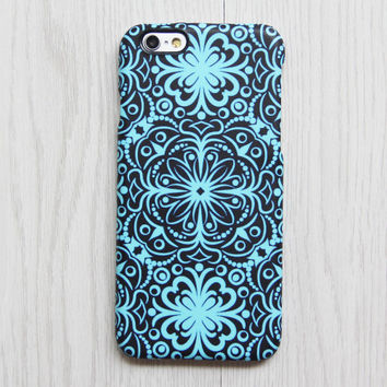 Turquoise Floral iPhone 6s case iPhone 6 plus Ethnic iPhone 5S 5 iPhone 5C iPhone 4S/4 Case Retro Samsung Galaxy S6 edge S6 S5 S4 Case 079