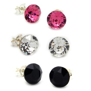 Daily Dazzling Stud Earrings: Swarovski® Crystals