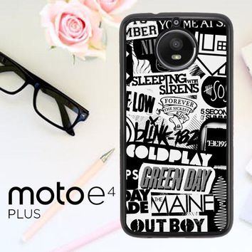 The Xx Coldplay Arctic Monkeys The Neighbourhood Sleeping With Sirens The 1975 Band Z0252 Motorola Moto E4 Plus Case