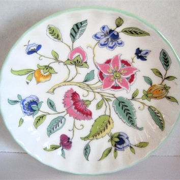 Minton Floral Dish, Haddon Hall, Collectible Dish, Bone China England
