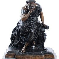 Socrates Greek Philosopher Statue, Lost Wax Bronze Metal