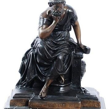 Socrates Greek Philosopher Statue, Lost Wax Bronze - 7890